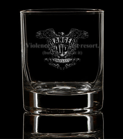 PREORDER Violence is the Last Resort Whiskey Glass