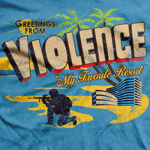 Violence is the Best Last Resort Ultra-Thin Vintage T-Shirt