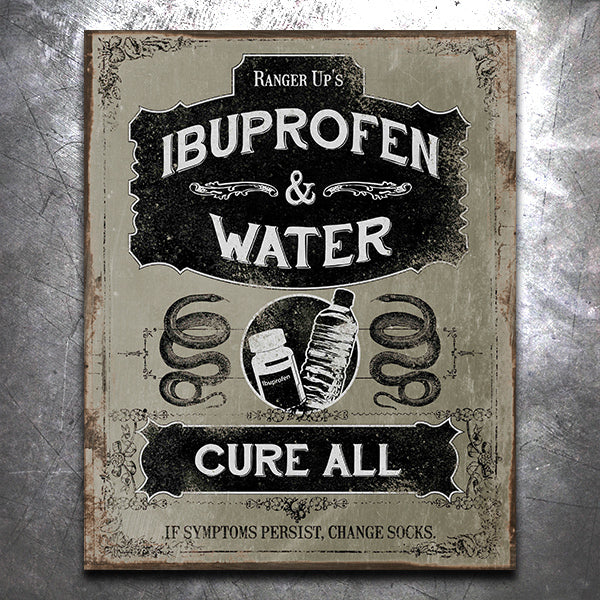 Ibuprofen And Water Vintage Tin Sign Ranger Up