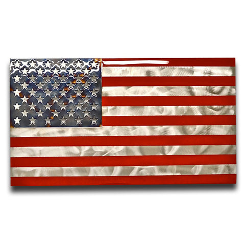 American Liquid Metal - US Flag Sign
