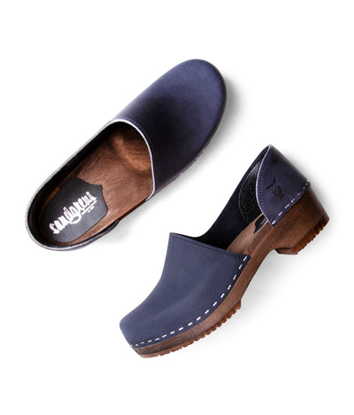 Brett Low Navy Closed Backed Women's Clog