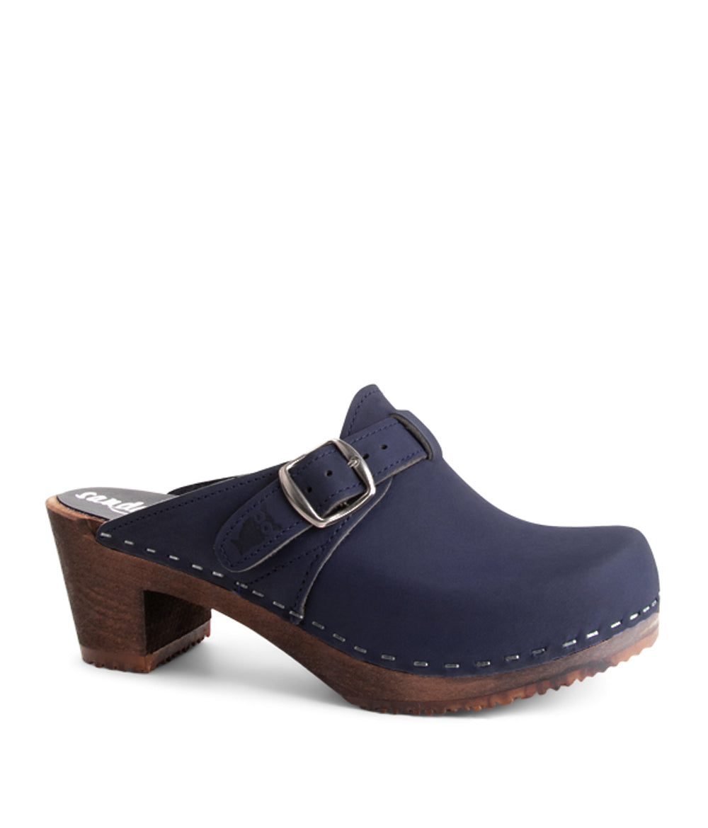 Nashville Navy Dark Base Slip on Clog