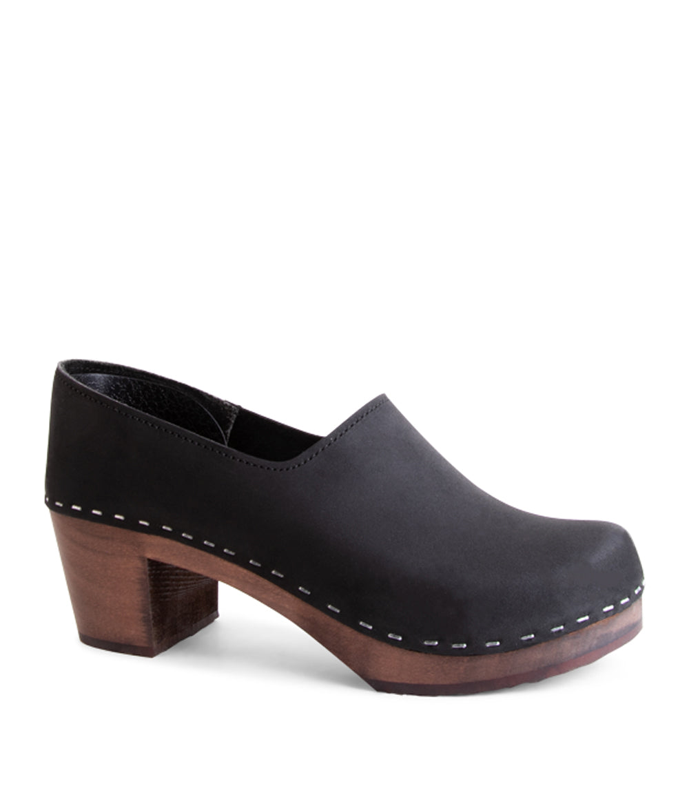 Bridget Black with Dark Base Women's Closed-back clogs
