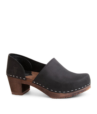 Brett Black with Dark Base Closed Back Modern Design Clog