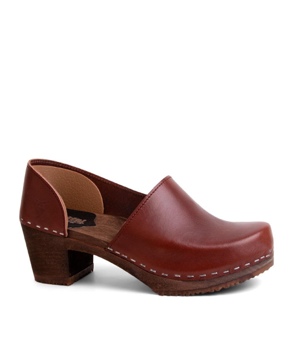 Brett Cognac Vegetable Tan with Dark Base Women's Clog