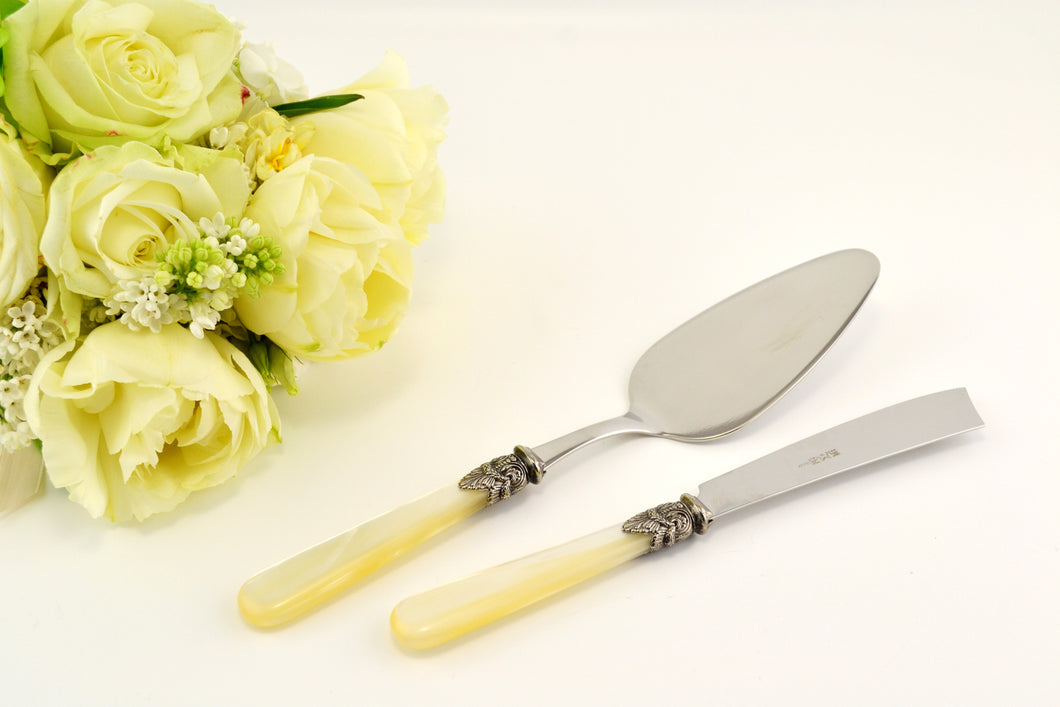Napoleon Ivory Cake Server and Cake Knife