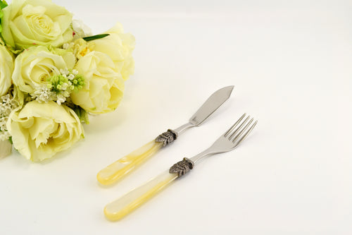 Napoleon Ivory Fish Knife and Fork