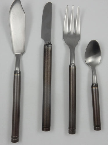Fuoco Mocha Spoon, Fish Fork, Fish Knife, & Butter Knife