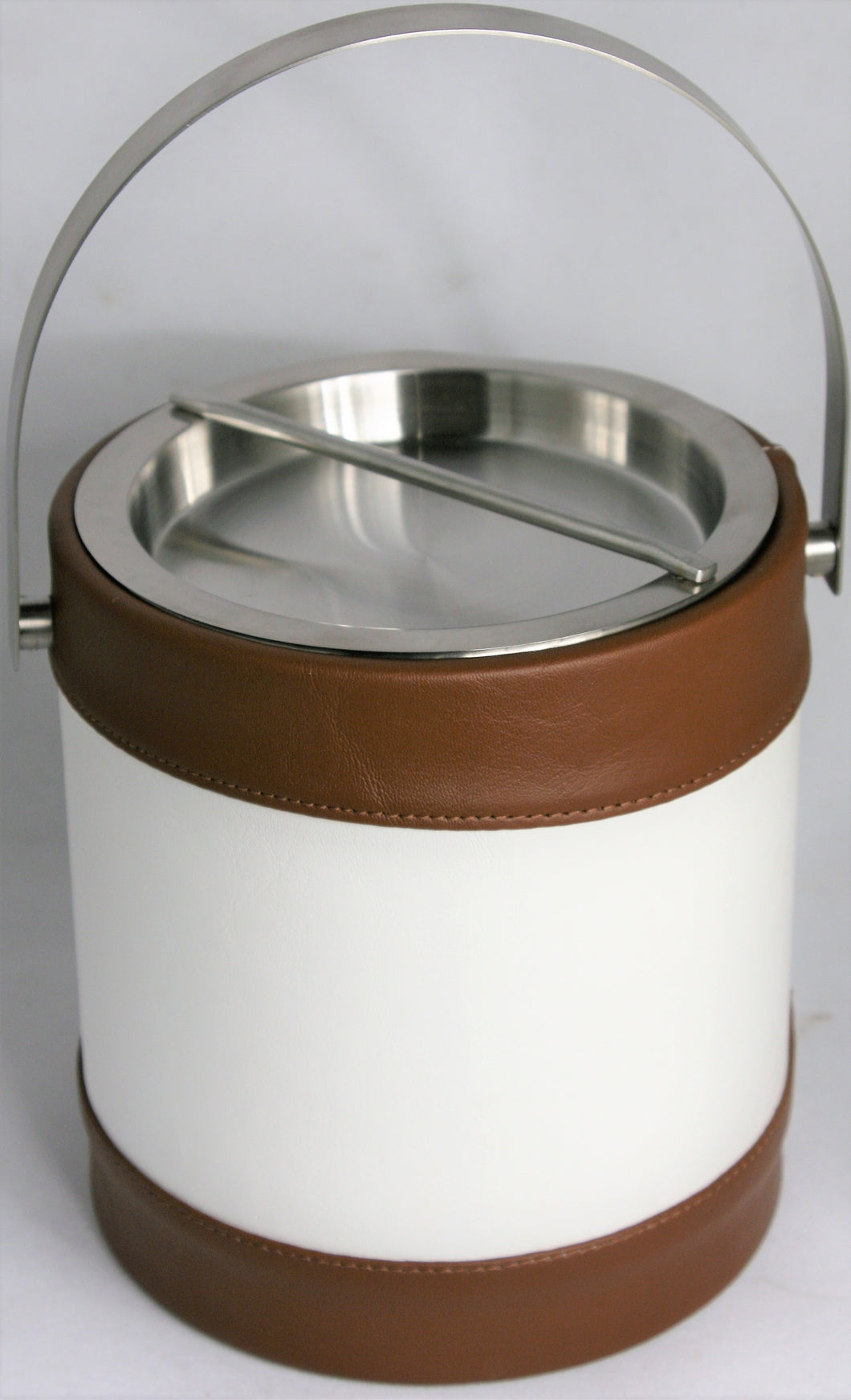 White & Brown Ice Bucket