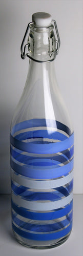Blue Stripes Water Bottle (Set of 2)