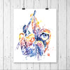 Sloth Colorful Watercolor Painting