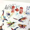 Canadian Animal ABC Painting for nursery