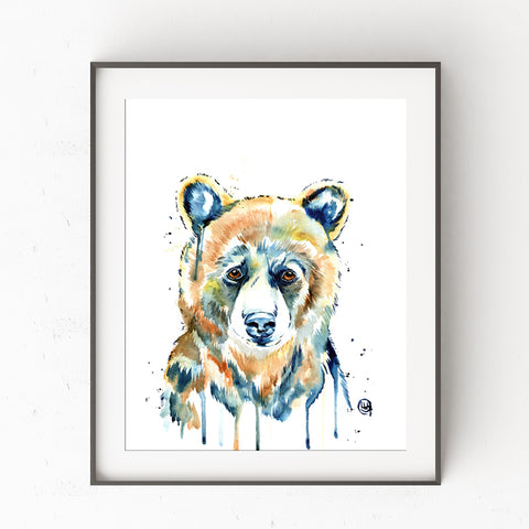 Baby Bear Watercolor Painting