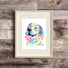 Beagle Watercolor Dog Painting