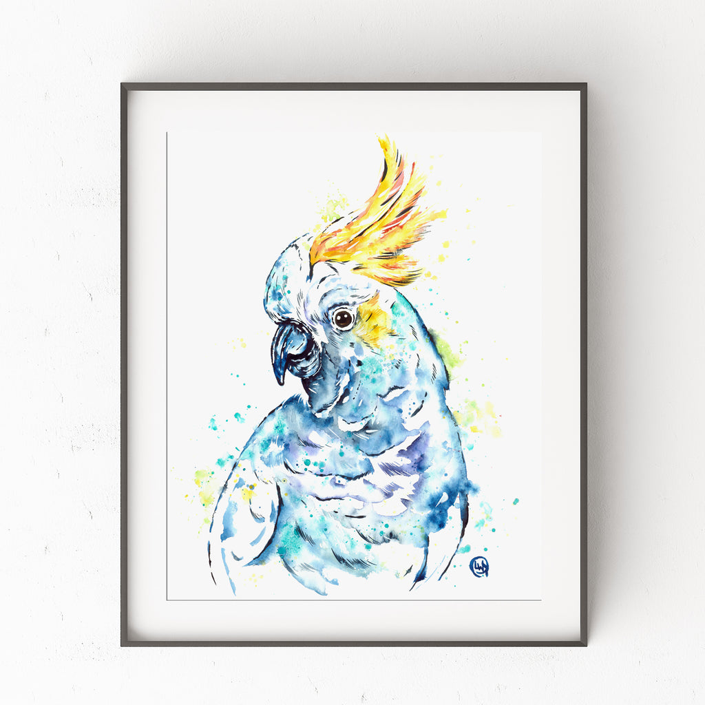 Cockatoo Watercolor Painting