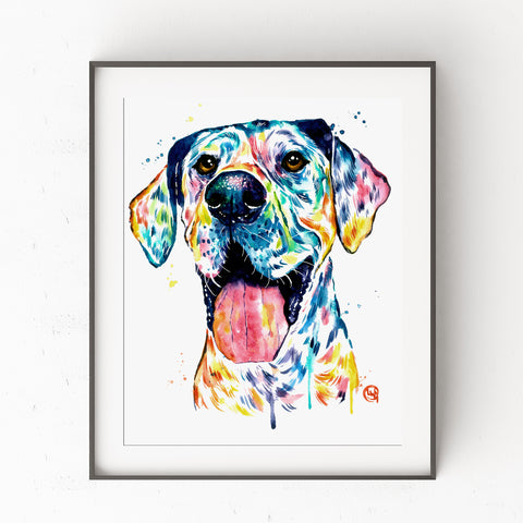 Great Dane Watercolor Art Print