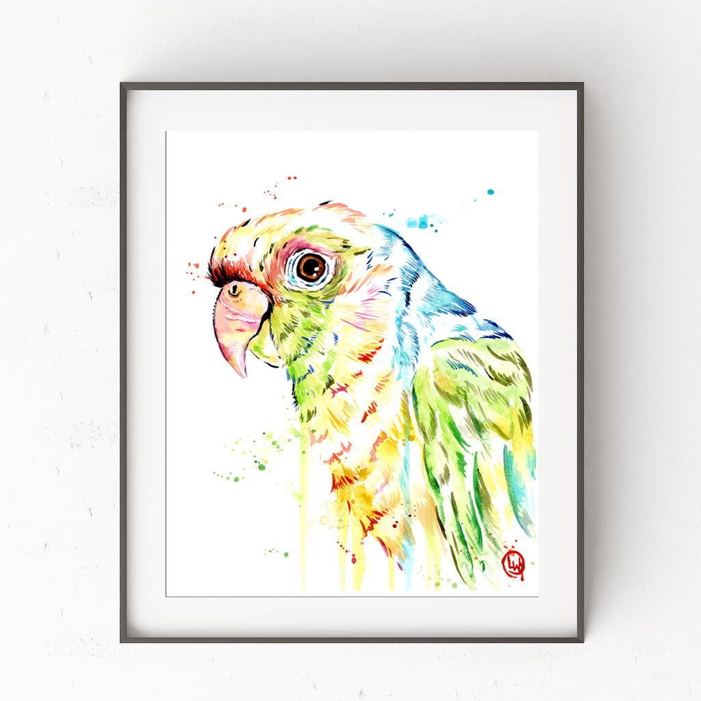 Parrot Watercolor Painting