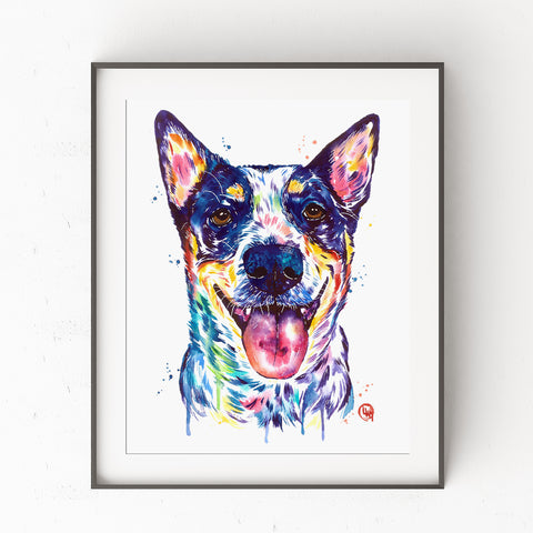 Australian Cattle Dog Print by Whitehouse Art | titled