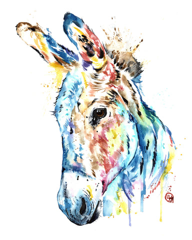 Original Watercolor Painting - 'Donkey'