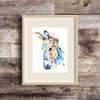 Donkey Watercolor Painting Art Print