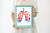Lungs Watercolor Painting Art Print