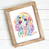 Cocker Spaniel Watercolor Painting Art Print