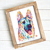 German Shepherd Print by Whitehouse Art | titled