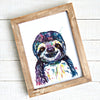 Susie the Sloth Watercolor Art Print