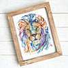 Lion - Courage Dear Heart - Colorful Watercolor Painting