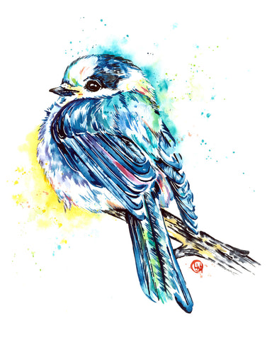 Original Gray Jay Painting
