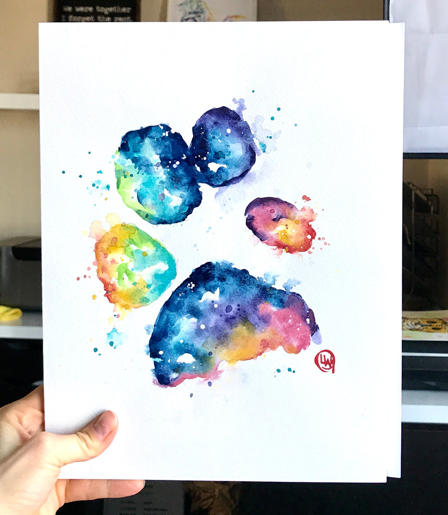 CUSTOM Colorful Paw Print or Silhouette