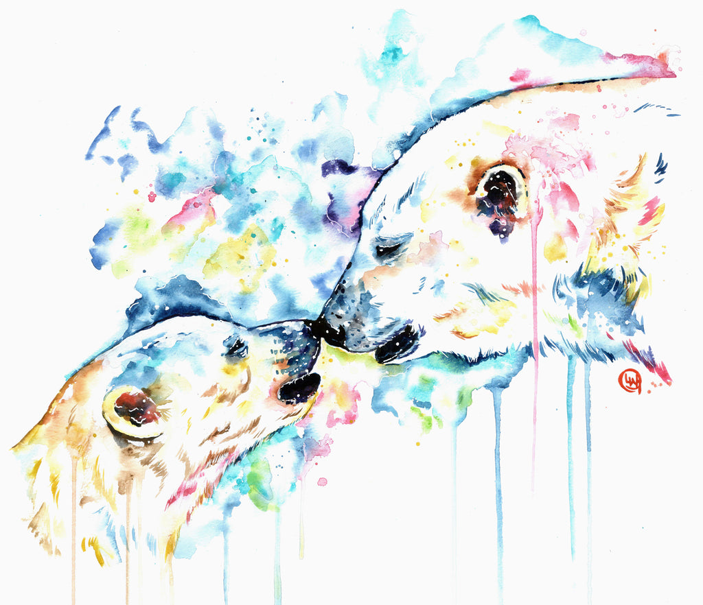 Original Watercolor Painting of a Polar Bear -