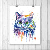 Rainbow Cat Colorful Pet Portrait Painting