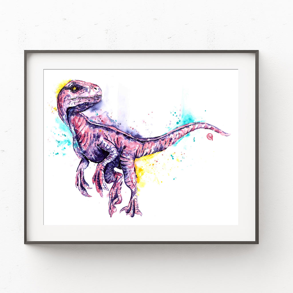 Pink Velociraptor Painting By Lisa Whitehouse Whitehouse Art