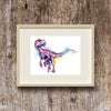 Pink Velociraptor / Raptor Painting by lisa whitehouse