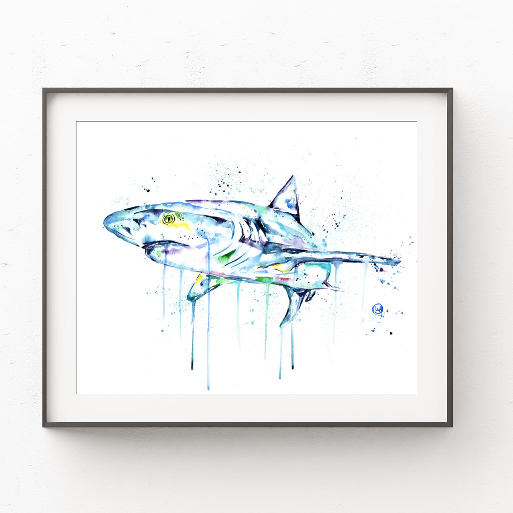 Shark Watercolour Painting