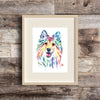 Sheltie Watercolor Dog Painting