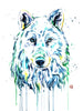 Arctic Wolf Wall Art Print by Whitehouse Art