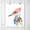 Colourful painting of a woodpecker