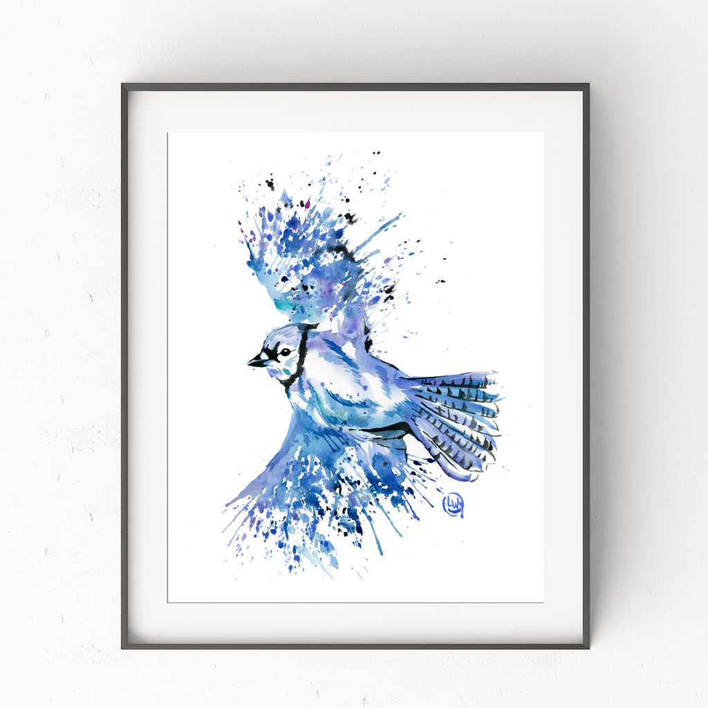 Blue Jay Watercolor Painting By Lisa Whitehouse