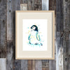Penguin Baby colorful watercolor print
