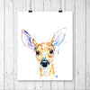 Baby Deer Colorful Watercolor Painting