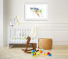 Sea Turtle Colorful Nursery Art Print