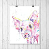Pink Pig Colorful Watercolor Painting