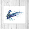 Loon Watercolor Bird Painting
