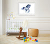 Galloping Unicorn Colorful Nursery Watercolor Painting