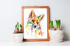 Whimsical Fox Colorful Watercolor Painting