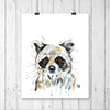 Raccoon Baby Watercolor Painting