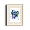 Pug Colorful Pet Portrait Watercolor painting