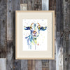 Goat Colorful Watercolor Painting